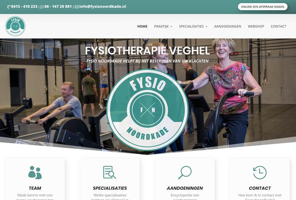 Fysio Noordkade, Webdesign Rosmalen